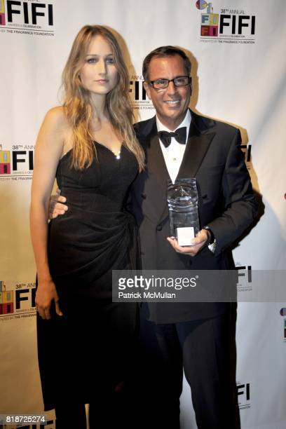 Leelee Sobieski and Harry Slatkin attend 2010 FiFi Awards Celebration of the Fragrance Foundation at The Downtown Armory on June 10 2010 in New York...