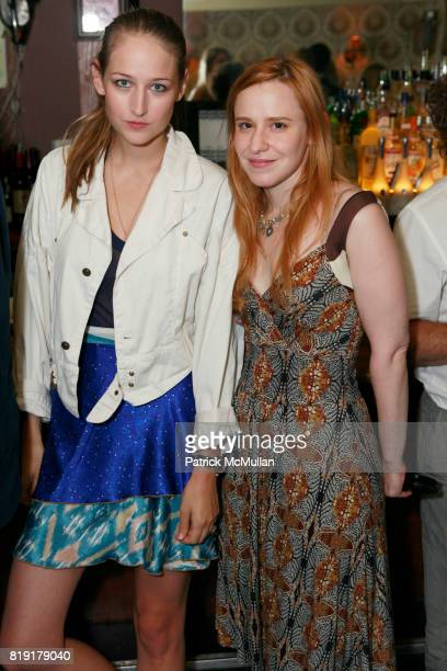 Leelee Sobieski and Mandie Erickson attend THE ENDANGERED SPECIES COALITION Fundraiser For The Gulf Pelicans at The Wooly on July 28 2010 in New York...