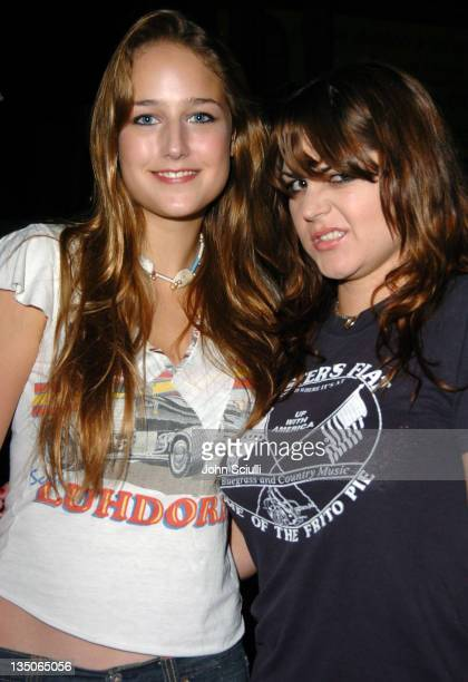 Leelee Sobieski and Maya Ford of The Donnas during American Eagle Outfitters Rocks Los Angeles with a Back to School Tailgate Party - Inside at...
