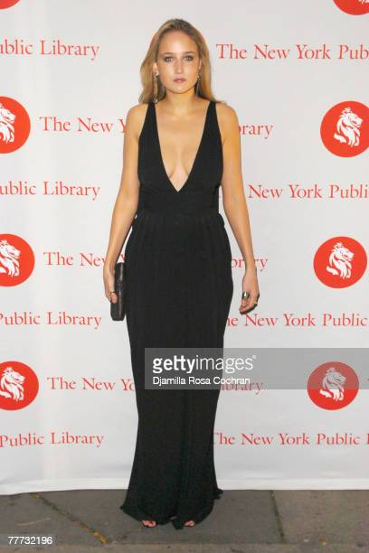 Leelee Sobieski attends the 10th Annual Library Lions Benefit at the New York Public Library on November 5th 2007 in New York City New York
