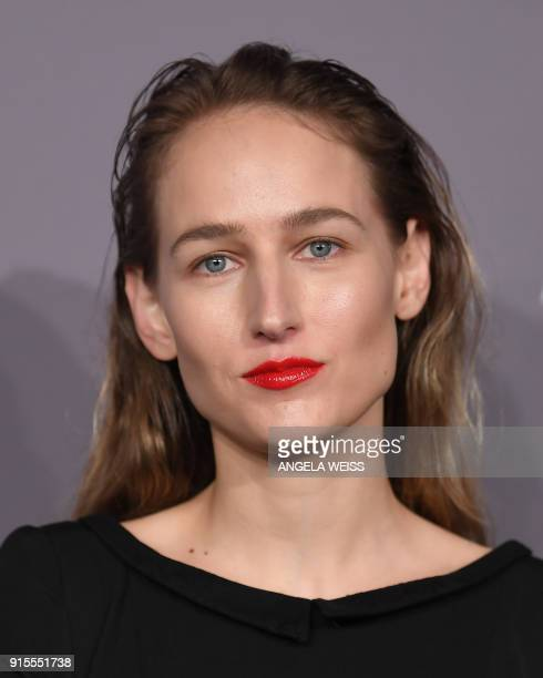 Leelee Sobieski attends the 2018 amfAR Gala New York at Cipriani Wall Street on February 7 2018 in New York City / AFP PHOTO / ANGELA WEISS