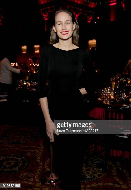 Leelee Sobieski attends the 2018 amfAR Gala New York at Cipriani Wall Street on February 7 2018 in New York City