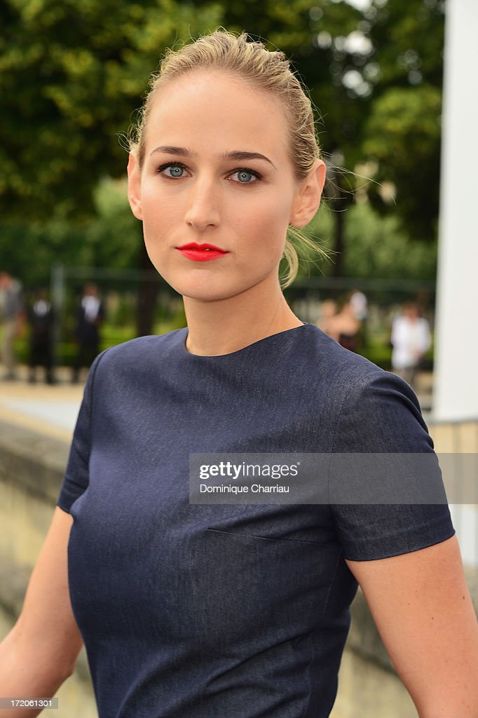 Leelee Sobieski attends the Christian Dior show as part of Paris Fashion Week Haute-Couture Fall/Winter 2013-2014 at on July 1, 2013 in Paris, France.