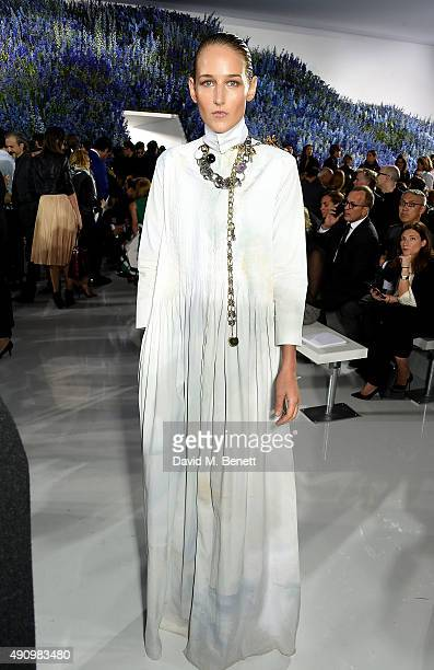 Leelee Sobieski attends the Christian Dior show as part of the Paris Fashion Week Womenswear Spring/Summer 2016 on October 2 2015 in Paris France