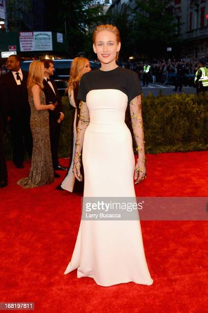 Leelee Sobieski attends the Costume Institute Gala for the 'PUNK Chaos to Couture' exhibition at the Metropolitan Museum of Art on May 6 2013 in New...