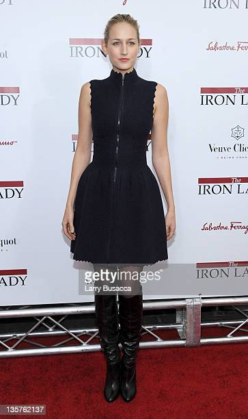 Leelee Sobieski attends the The Iron Lady New York premiere at the Ziegfeld Theater on December 13 2011 in New York City