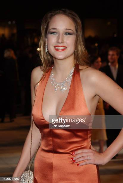 Leelee Sobieski during 2004 Vanity Fair Oscar Party at Mortons in Beverly Hills California United States