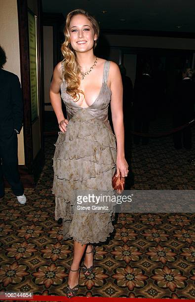 Leelee Sobieski during 59th Annual Directors Guild of America Awards Arrivals at Hyatt Regency Century Plaza in Century City California United States