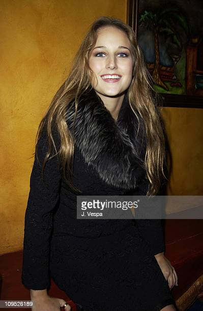 Leelee Sobieski during Max Premiere at the 2002 AFI Film Festival After Party at Henry Fonda Theatre in Hollywood California United States