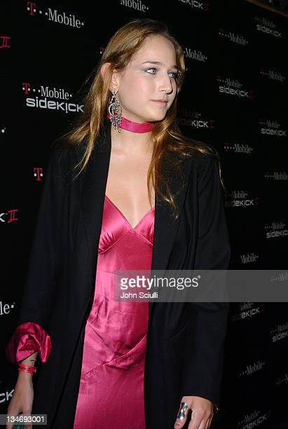 Leelee Sobieski during 'TMobile Sidekick II' Launch Party Red Carpet at The Grove in Los Angeles California United States