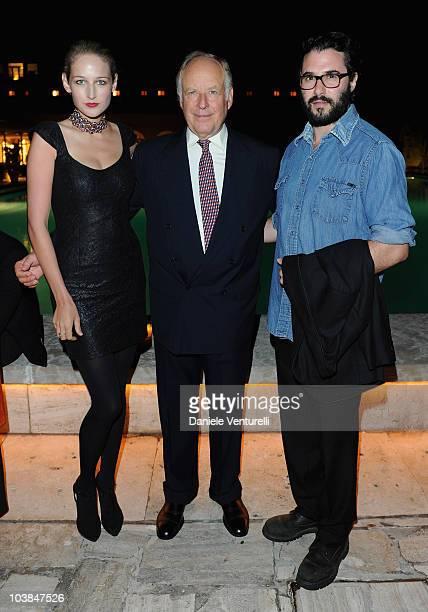 Leelee Sobieski Nicola Bulgari and Adam Kimmel attend the Bulgari And W Magazine Celebrate The 67th Venice Film Festival Party at the Hotel Cipriani...