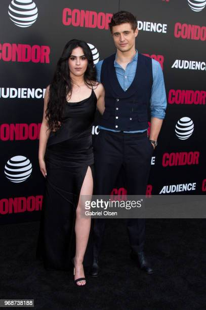 Leem Lubany and Max Irons arrive for the premiere of ATT Audience Network's 'Condor' at NeueHouse Hollywood on June 6 2018 in Los Angeles California