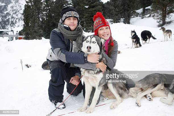 LeeOscar Kirchberger and Sonja Kirchberger attend the Sledge Dog Race Training Tirol Cross Mountain 2013 on December 06 2013 in Innsbruck Austria