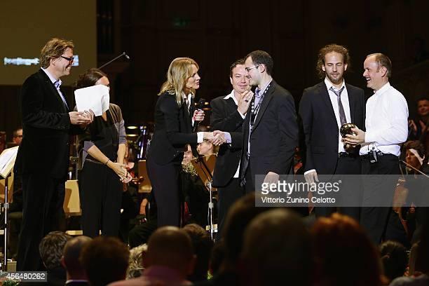 Leeran Z Raphaely receives the grand prize at the 'Film Musik Wettbewerb' during Day 7 of Zurich Film Festival 2014 on October 1 2014 in Zurich...