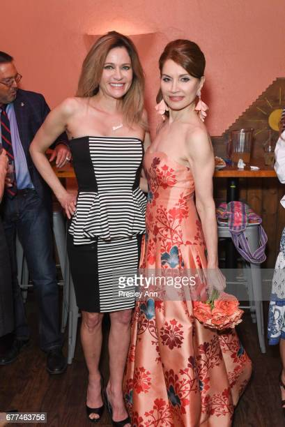 Leesa Rowland and Jean Shafiroff attend Metropolitan Magazine and 25A Magazine Host April 2017 Cover Star Jean Shafiroff at Selena Rosa Mexicana on...