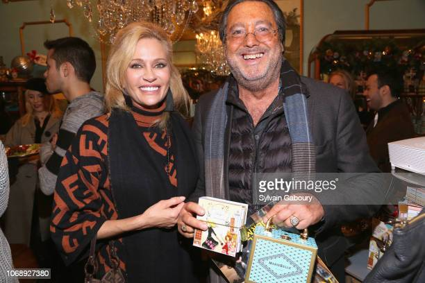 Leesa Rowland and Larry Wohl attend Maribel Lieberman Of MarieBelle Chocolates Celebrates Resident Magazine December 2018 Cover at MarieBelle New...