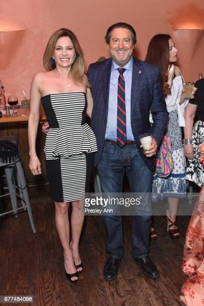 Leesa Rowland and Larry Wohl attend Metropolitan Magazine and 25A Magazine Host April 2017 Cover Star Jean Shafiroff at Selena Rosa Mexicana on May 2...
