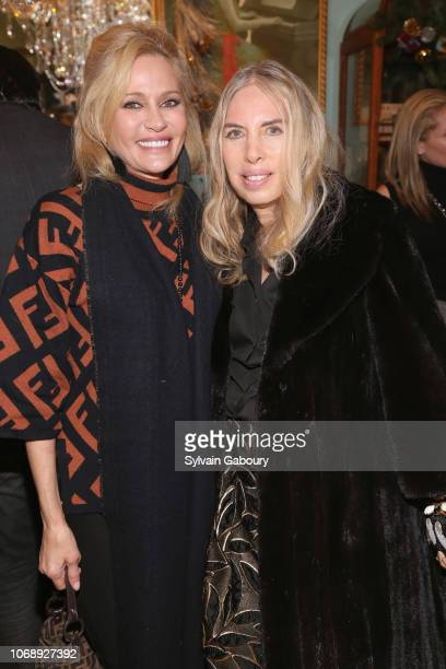 Leesa Rowland and Lauren Lawrence attend Maribel Lieberman Of MarieBelle Chocolates Celebrates Resident Magazine December 2018 Cover at MarieBelle...