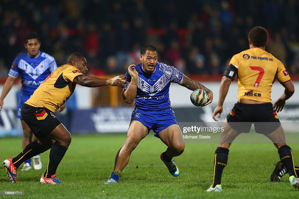 Papua New Guinea v Samoa - Rugby League World Cup: Group B : News Photo
