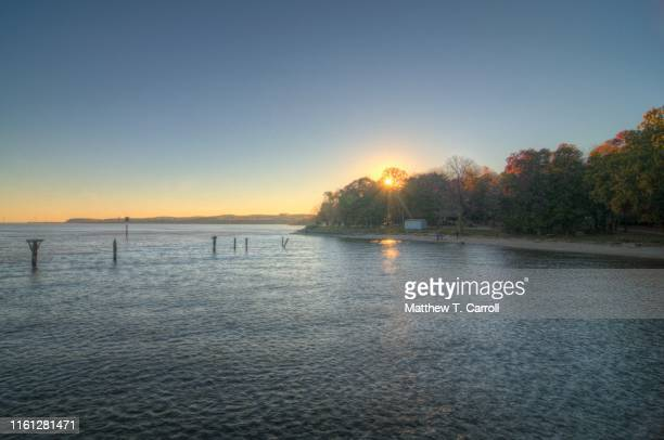 leesylvania state park sunset - woodbridge virginia stock pictures, royalty-free photos & images