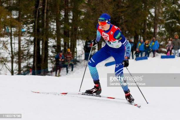 Leevi Mutru competes in the FIS Nordic Combined World Cup, Individual Gundersen , on December 22, 2019 in Ramsau am Dachstein, Austria.