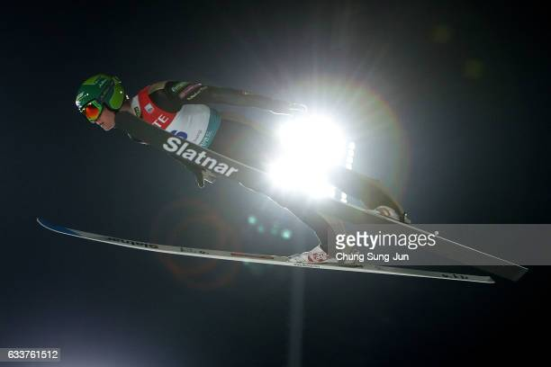 Leevi Mutru of Finland competes in the Individual Gundersen Large Hill 10km during the FIS Nordic Combined World Cup presented by Viessmann Test...