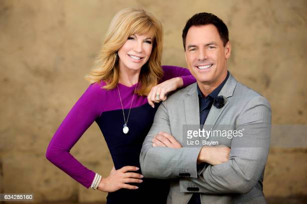 Leeza Gibbons and Mark Steines are photographed for Los Angeles Times on December 14 2016 in Los Angeles California PUBLISHED IMAGE CREDIT MUST READ...
