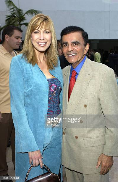 Leeza Gibbons & Casey Kasem during Radio and Records Reception 2003 at Beverly Hilton Hotel in Beverly Hills, California, United States.