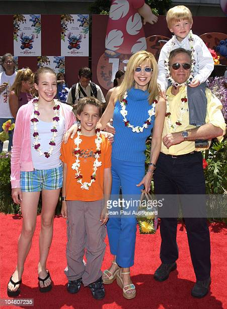 Leeza Gibbons family during Lilo and Stitch Premiere at El Capitan Theater in Hollywood California United States