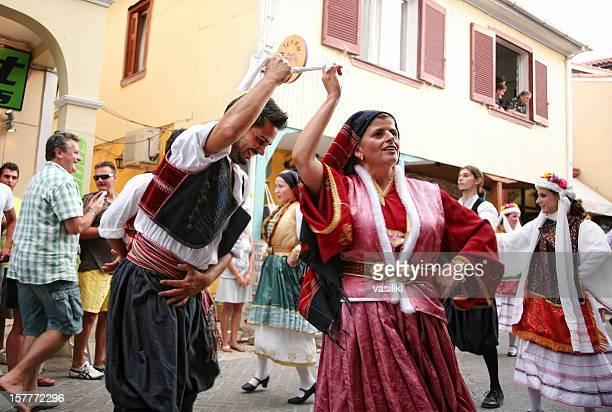 Lefkas International Folklore Festival, parade, local group