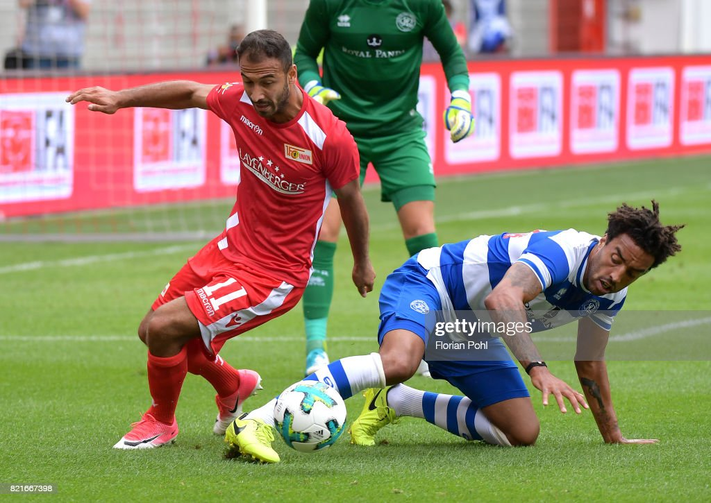 Akaki Gogia of 1 FC Union Berlin during the game between Union Berlin and the Queens Park Rangers on july 24, 2017 in Berlin, Germany.