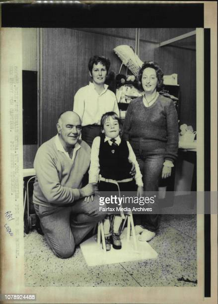 Amy Wilson with from left Ray Lodge Ann Leonard and Amy's mother Margaret WilsonWhen Amy Wilson was born nine years ago tomorrow doctor said she...