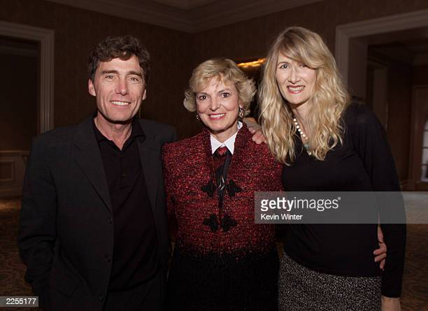 Left Damaged Care Executive Producer/Director Harry Winer Dr Linda Peeno and Laura Dern at the Winter TCA Showtime Press Tour held at the RitzCarlton...