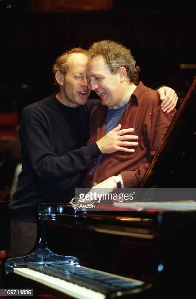 David Helfgott Australian Concert Pianist with Right BRAMWELL TOVEY British ConductorRehearsing for a piano recital at the Royal Albert Hall with the...