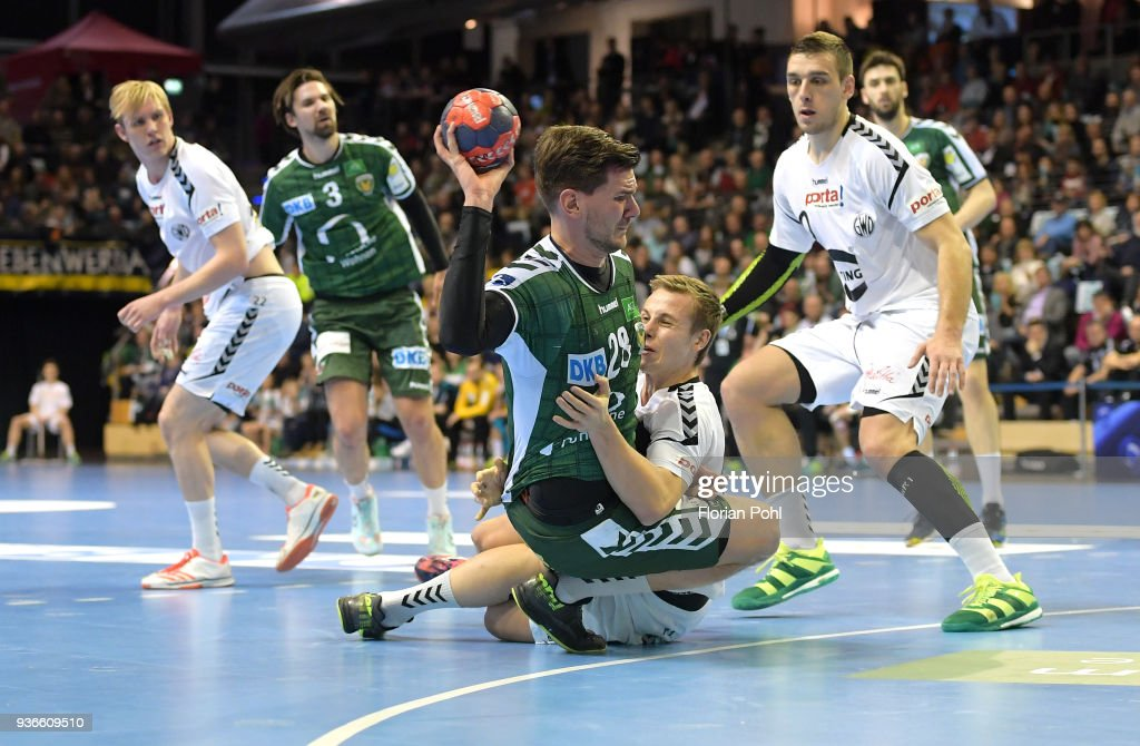 Erik Schmidt Of Fuechse Berlin During The Dkb Handball Bundesliga Game Between Fuechse Berlin And Gwd