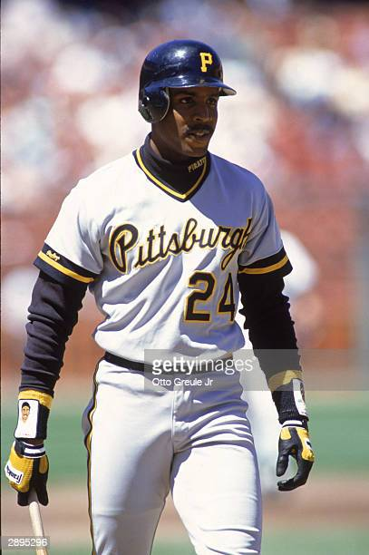 Left fielder Barry Bonds of the Pittsburgh Pirates walks during the game against the San Francisco Giants at Candlestick Park in 1990 in San...