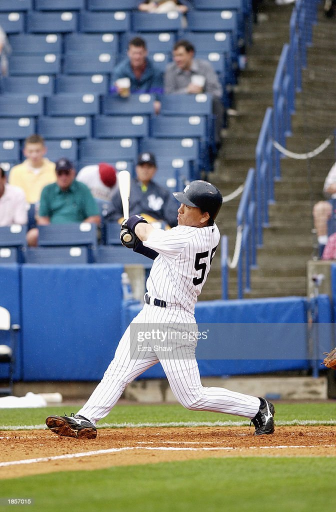 Matsui hits home run : ニュース写真