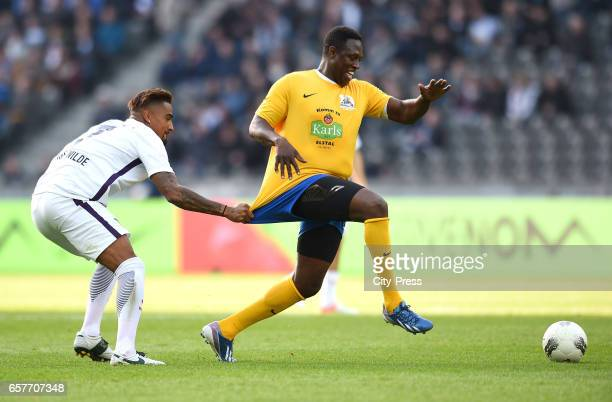left KevinPrince Boateng during the farewell match of Marcelinho on march 25 2017 in Berlin Germany Berlin Germany march 25 2017