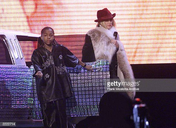 Left Lil' Bow Wow and Madonna live at The 43rd Annual Grammy Awards at The Staples Center Los Angeles CA Feb 21 2001