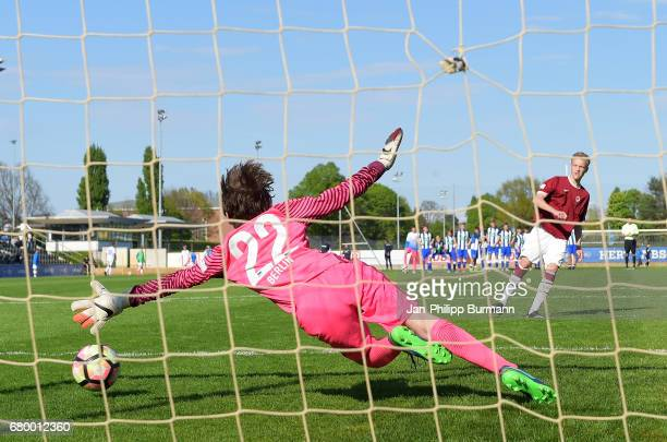 left Marten Schulz of Hertha BSC U14 during the game of the 3rd place during the Nike Premier Cup 2017 on may 7 2017 in Berlin Germany