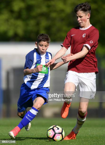 left Nemanja Motika of Hertha BSC U14 during the game of the 3rd place during the Nike Premier Cup 2017 on may 7 2017 in Berlin Germany