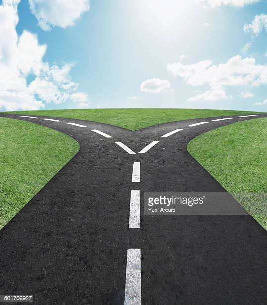 left or right? - forked road stock pictures, royalty-free photos & images