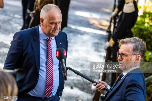 Left Party leader Jonas Sjostedt attends the opening of the Swedish Parliament for the fall session at the Riksdag Parliament building on September...