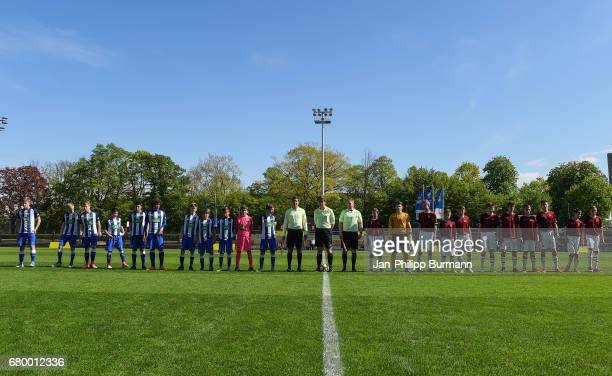 left players of Hertha BSC U14 during the game of the 3rd place during the Nike Premier Cup 2017 on may 7 2017 in Berlin Germany