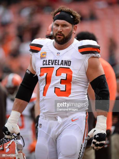 Left tackle Joe Thomas of the Cleveland Browns walks off the field prior to a game on October 8 2017 against the New York Jets at FirstEnergy Stadium...