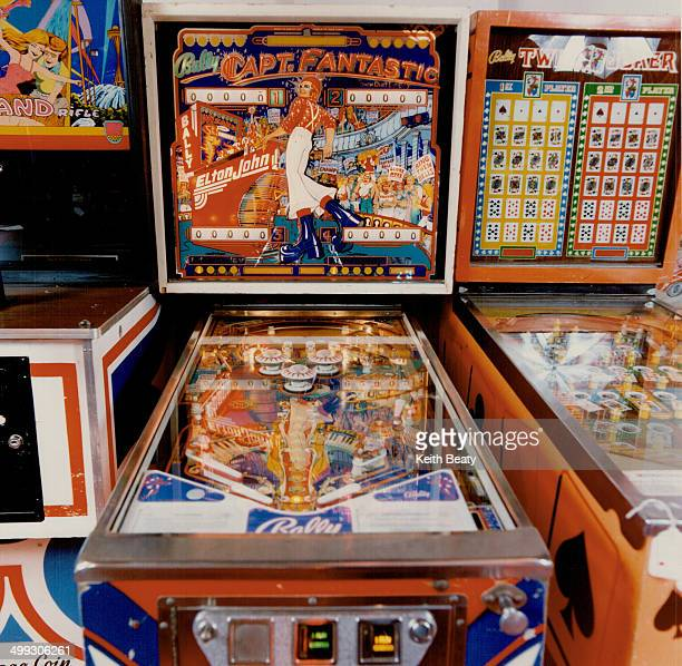 Left The Captain Fantastic electronic pinball game features a picture of Elton John built in 1976 it sells for $1100 at The Right Stuff