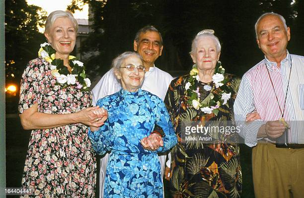 Actress Vanessa Redgrave novelist and screenwriter Ruth Prawer Jhabvala producer Ismail Merchant actress Rachel Kempson and director James Ivory...