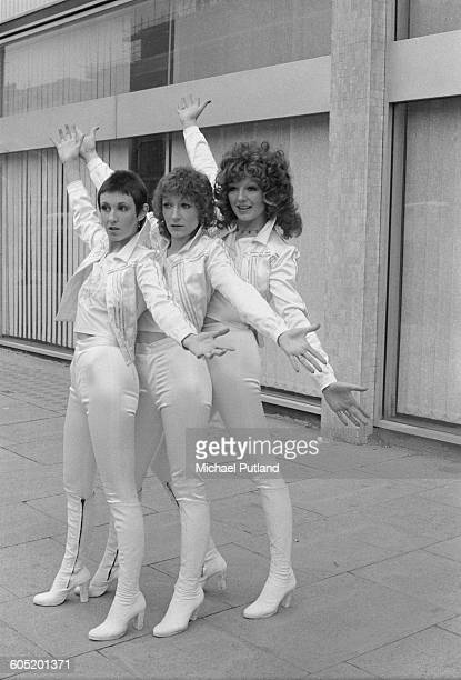 actresses Julie Covington Charlotte Cornwell and Rula Lenska stars of the Thames TV drama series 'Rock Follies' 13th January 1976