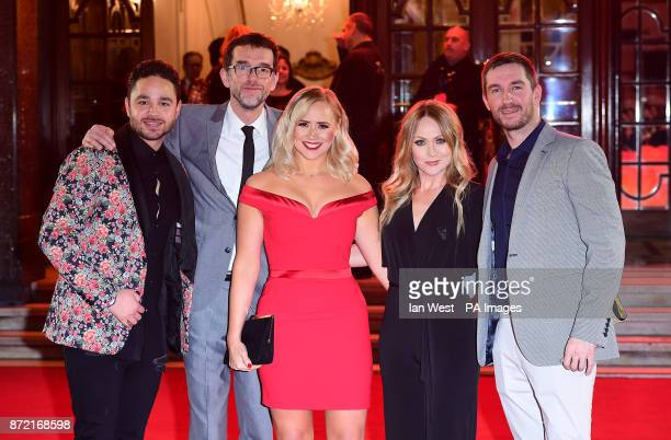 Left to right Adam Thomas Mark Charnock Amy Walsh Michelle Hardwick and Anthony Quinlan attending the ITV Gala held at the London Palladium Picture...