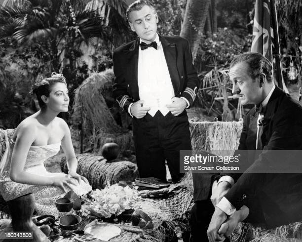 American actress Ava Gardner ' as Lady Susan Ashlow and English actors Stewart Granger 1913 1993 as Sir Philip Ashlow and David Niven as Henry...